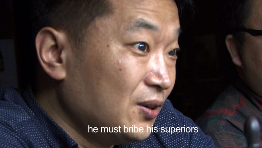 He must bribe his superiors